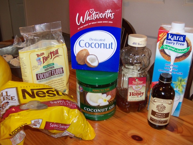 All the ingredients you need to make yummy cookies!