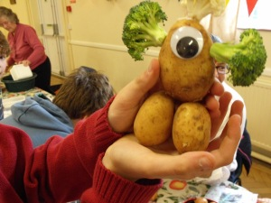 Vegetable people making at Messy Church